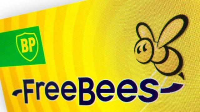 Het logo van Freebees is nog steeds veel te zien
