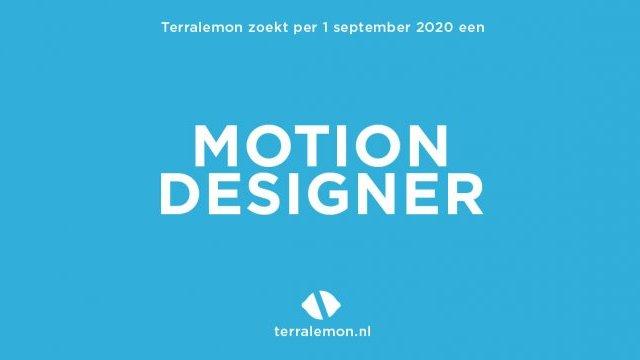 Vacature Motion Designer