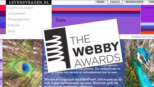 Webby Award Levensvragen website